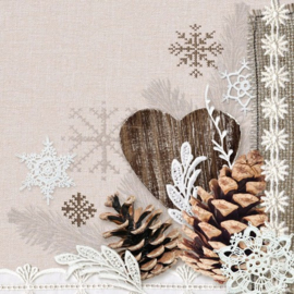 CraftEmotions servetten 5st - Winter nature 33x33cm Ambiente