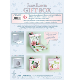 Leane Creatief - 254803 - Flower Foam gift boxes 4 x white