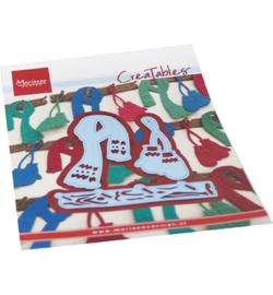 Marianne D Creatables LR0686 - Creatable - Mittens & scarf set