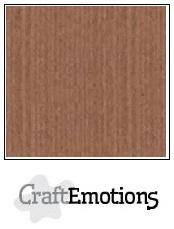 CraftEmotions linnenkarton terra bruin 30,5x30,5cm