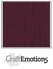 CraftEmotions linnenkarton - burgundy LHC-67 A4 250gr