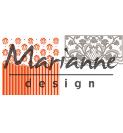 Marianne D Embossing folder DF3443 - Anja's ornamental border