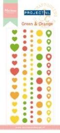 Marianne D Enamel stickers Groen & Oranje PL4502