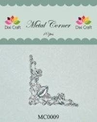 Dixi Craft Metal Corner 42x42 mm zilver - MC0009