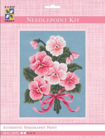 Eurocraft NEEDLEPOINT KIT 14x18cm - 3143K - Pink Floral Bouquet
