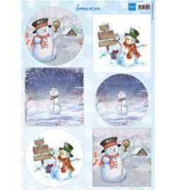 Marianne D Knipvel VK9569 - Snowmen circles & squares