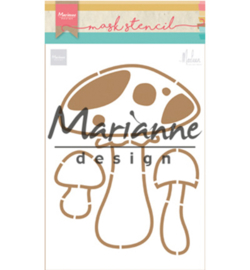 Marianne D PS8015 - Craft stencil: Mushrooms by Marleen