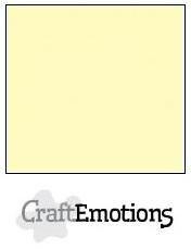 CraftEmotions linnenkarton lichtgeel 27x13,5cm 250gr