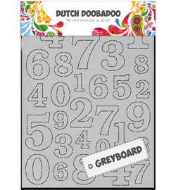Dutch Doobadoo - 492500004 - Greyboard Numbers