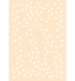 Joy! Crafts - 6002/0869 - Polybesastencil - Kattenpootjes