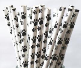 5 stuks Hondenpoot rietje zwart