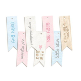 Piatek13 - Decorative tags Baby Joy 02 P13-BAB-22