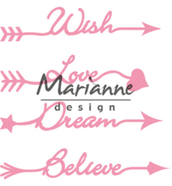 Marianne D Collectable  COL1458 - Arrow sentiments