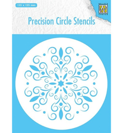 Nellie`s Choice MMPCS004 - Round stencil: flower