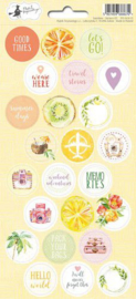 Piatek13 - Sticker sheet Sunshine 03 P13-SUN-13 10,5x23 cm