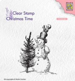 Nellie`s Choice CT029 - Snowman with tree