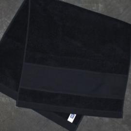 Rico Handdoek Zwart, 50x100cm (met borduurrand 47x9,5cm)