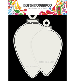 Dutch Doobadoo - 470713730 - CardArt Christmas baubles oval