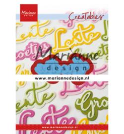 Marianne D Creatables LR0646 - Groetjes