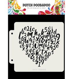 Dutch Doobadoo - 40482 - Alphabet heart