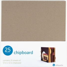 "Silhouette Chipboard 12x12""."