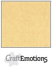 CraftEmotions linnenkarton - honing (kraft) LHC-16 A4 250gr
