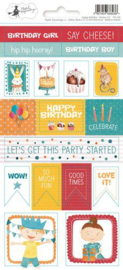 Piatek13 - Sticker sheet Happy Birthday 02 P13-418 10,5x23 cm