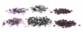 Assorted Rhinestones - Clear, Rose, Pink