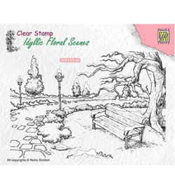 Nellie`s Choice IFS016 - Wintery park with bench