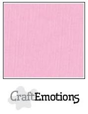 CraftEmotions linnenkarton roze 30,5x30,5cm