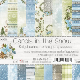 "Paper Collection Set 6""*6"" Carols In the Snow, 250 gsm"