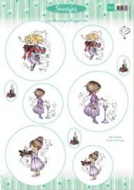 Card Topper Snoesjes - Celebrating Christmas - 3DHM0064