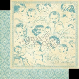 Graphic 45 - Little Darlings Collection - 12 x 12 Double Sided Paper - Lullaby