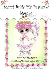 My-Besties Butterfly Ballons Clear Rubber Stamp