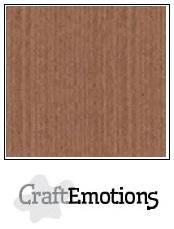 CraftEmotions linnenkarton terra bruin 27x13,5cm 250gr