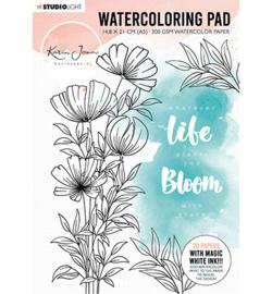Studio Light - WCPKJ01 - Watercoloring Pad, Karin Joan Blooming Collection nr.01