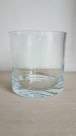 """Glazen vaas (dikwandig) cilindrisch """"Dickie"""""""