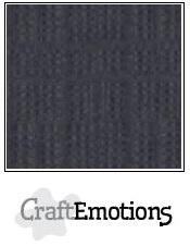 CraftEmotions linnenkarton antraciet 30,5x30,5cm
