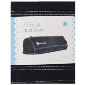 Silhouette Portrait Dust Cover Navy