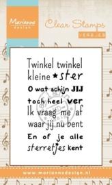Marianne D Stempel Liedje Twinkel twinkel kleine ster