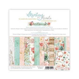 Mintay - Birdsong - mtbir08 - Scrappapier (blok - 23 vel) 15 x 15 cm (mist 1 pagina)