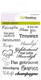 CraftEmotions clearstamps A6 - tekst NL huwelijk