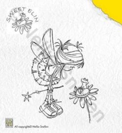 Clearstempel - Sweet Elin - kikker op bloem SWE004