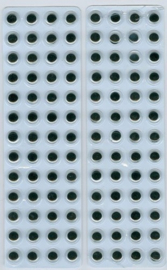 Wiebelogen zelfklev. rond zwart wit 8 mm 104 ST