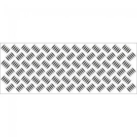 Kaiser Craft Clear Stamps Checker Plate