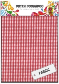 Dutch Doobadoo - Fabric Art - Textile Red Check