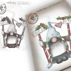 Polkadoodles - Stamp Gnome - Peace & joy