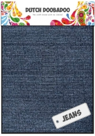 Dutch Doobadoo Jeans blauw - medium sheets (2 vel) A5