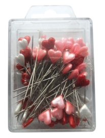 Marianne D Decoration Heart pins red, white, pink JU0945
