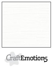 CraftEmotions linnenkarton - wit LHC-02 A4 250gr